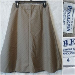Pendelton Wool A Line Skirt Gray Purple Pink